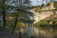 Ironbridge in Shropshire, Großbritannien Stockbild
