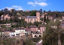 Ironbridge town and church. Royalty Free Stock Photos