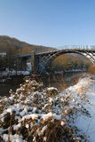 Ironbridge - Winter-Abbildungen Stockbilder