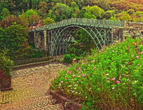 Ironbridge. The World's 1st bridge made of iron set in the Shropshire town of Ironbridge Royalty Free Stock Photography