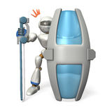 Ironclad guard robot Royalty Free Stock Photo