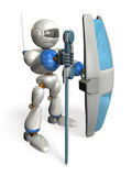 Ironclad guard robot Royalty Free Stock Image