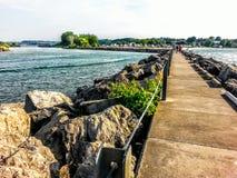 Irondequoit海湾码头 库存图片