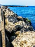 Irondequoit海湾码头 免版税库存图片
