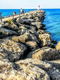 Irondequoit Bay Pier royalty free stock images