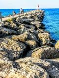 Irondequoit zatoki molo Obrazy Royalty Free