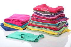 Ironed and arranged clothes Stock Image