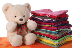 Ironed children's clothes Royalty Free Stock Photos