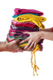 Ironed clothes Royalty Free Stock Image