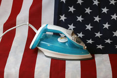Ironed Crumpled US flag Stock Photo
