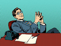 Ironic businessman boss Royalty Free Stock Image