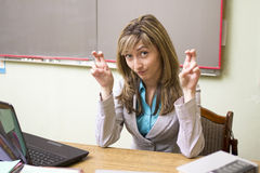 The ironic teacher Stock Photography