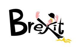 Ironiczna ilustracja o konsekwencjach brexit dla Zjednoczone Królestwo ilustracja wektor