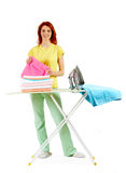 During ironing Royalty Free Stock Image