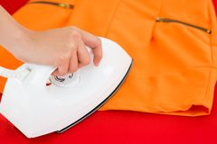 Ironing in the atelier Royalty Free Stock Photo