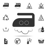Ironing at an average temperature of up to 180 degrees icon. Detailed set of laundry icons. Premium quality graphic design. One of. The collection icons for Stock Photo
