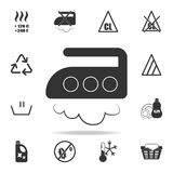 Ironing at an average temperature of up to 200 degrees icon. Detailed set of laundry icons. Premium quality graphic design. One of. The collection icons for Stock Image