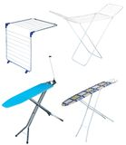 Ironing board and clothe dryer Royalty Free Stock Photos