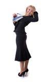 Ironing businesswoman Royalty Free Stock Photos