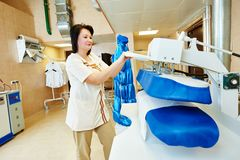 Ironing cleaning service Royalty Free Stock Photography