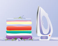 Ironing clothes Royalty Free Stock Images