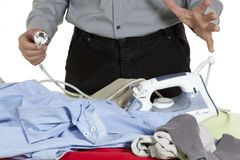 Ironing clothes Royalty Free Stock Photography
