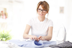 Ironing clothes Stock Photography