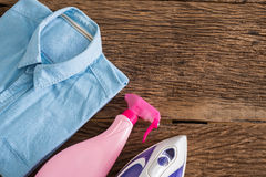 Ironing, clothes, housework and objects concept Stock Photography