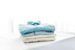 Ironing, clothes, housework and objects concept Royalty Free Stock Photos