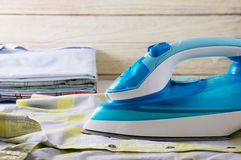 Ironing clothes laundry housework Royalty Free Stock Photos