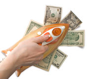 Ironing dollars Stock Images