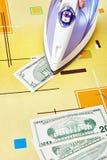 Ironing dollars banknote Royalty Free Stock Photo