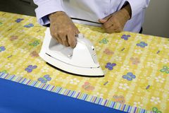 Ironing fabric Royalty Free Stock Photo