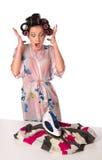 Ironing is failed Royalty Free Stock Photos