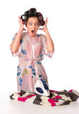 Ironing is failed Royalty Free Stock Photography