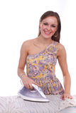 Ironing girl Royalty Free Stock Photos
