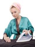 Ironing girl Royalty Free Stock Photo