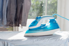 Ironing housework ironed folded shirts clean concept still life Royalty Free Stock Photography