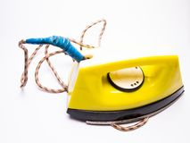 Ironing iron close-up, electrical appliances. Water, object, lifestyle stock photo