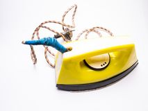 Ironing iron close-up, electrical appliances. Water, object, lifestyle royalty free stock photo
