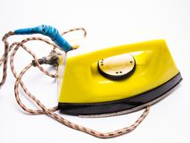 Ironing iron close-up, electrical appliances. Water, object, lifestyle royalty free stock images