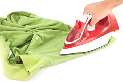 Ironing isolated Stock Image