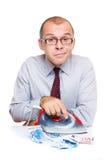 Ironing money Royalty Free Stock Images