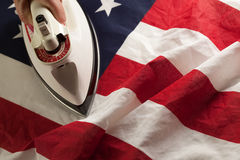 Ironing Out the Wrinkles of Flag Stock Photography