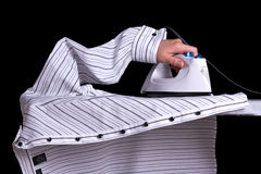 Ironing Shirt Stock Photo