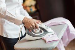 Ironing shirt Royalty Free Stock Image