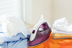 Ironing time at home Royalty Free Stock Image