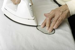 Ironing to form a leaf. Stock Images