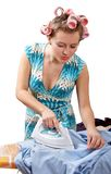 Ironing Woman Royalty Free Stock Photography