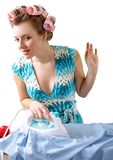 Ironing woman Royalty Free Stock Photos